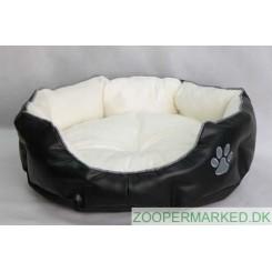 Hundekurv - kunstlæder - 45 cm