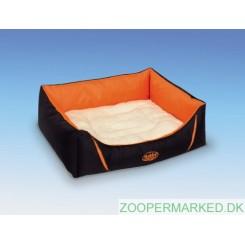 Komfortseng firkantet DAVIA orange 60x48x19 cm