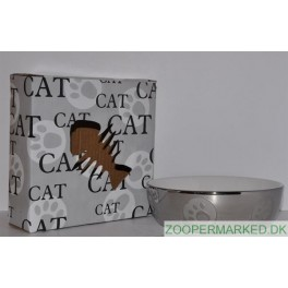 Keramikskål Sølv m/poter 13 cm