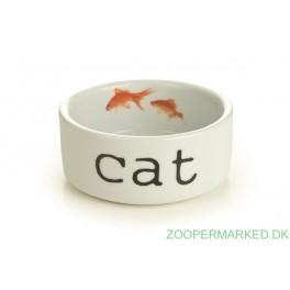 Katte skål m/guldfisk