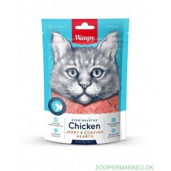 Wanpy Chicken jerky & codfish hearts cat
