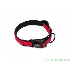 Halsbånd Classic Soft Reflect, rød 30-45cm