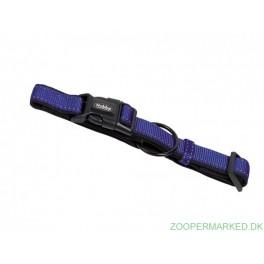 Halsbånd Classic Soft Reflect, blå 25-35cm