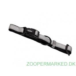 Halsbånd Classic Soft Reflect, grå 30-45cm
