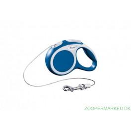 Flexi Vario XS, blå 3 meter snor.