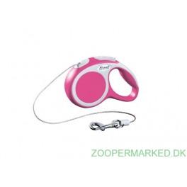 Flexi Vario XS, pink 3 meter snor.