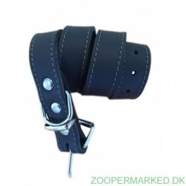Soft Læderhalsbånd sort 55 cm