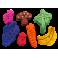 Frugt og grøntsager til gnaver 14 stk
